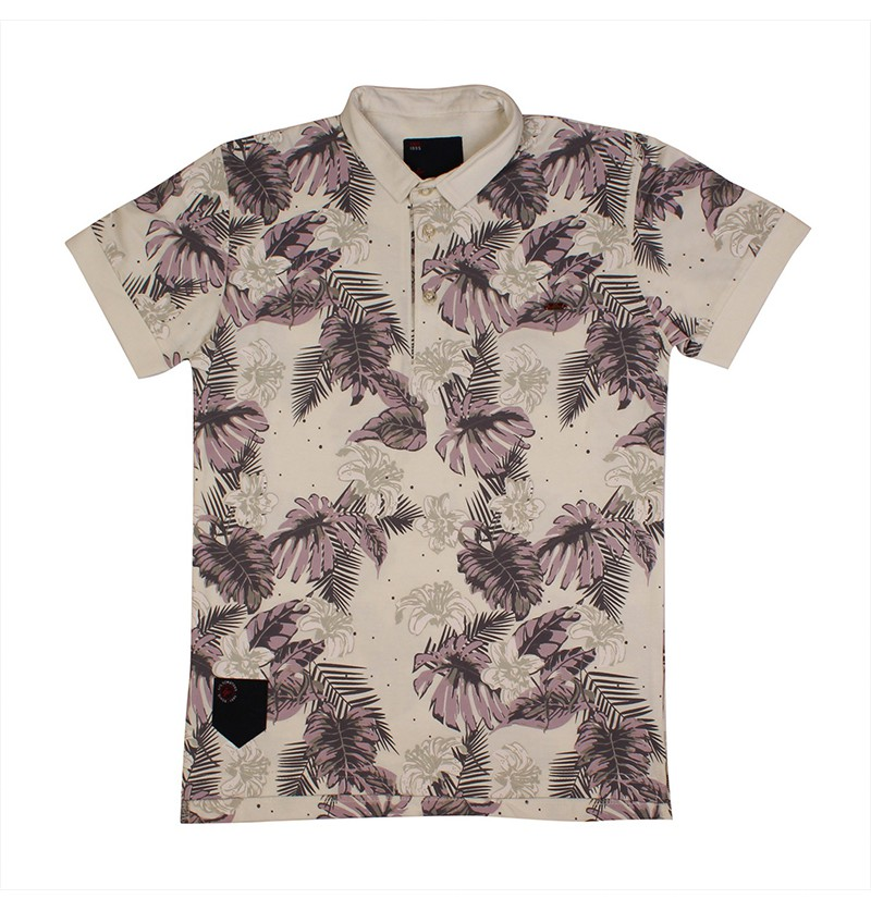 Beach Leaves Off White T-shirt