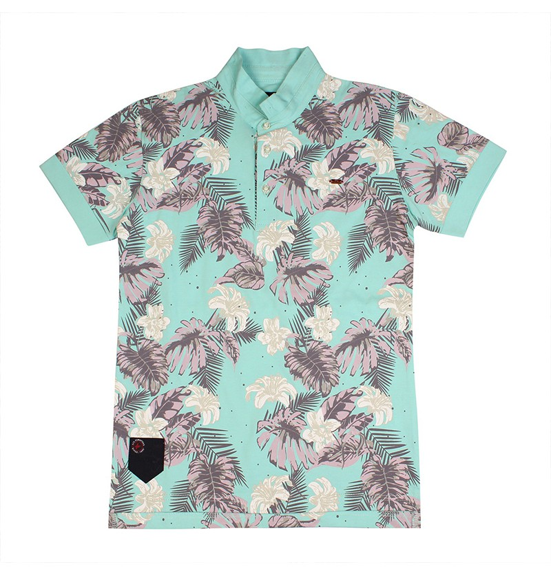 Beach Leaves Sea Green T-shirt
