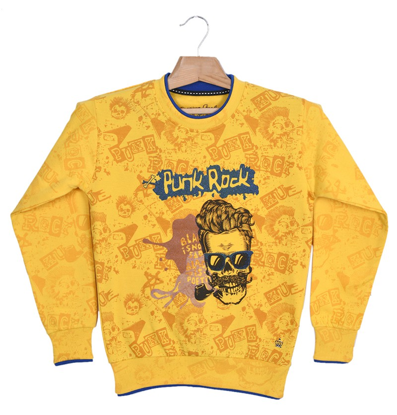 Punk Rock Yellow Sweatshirt