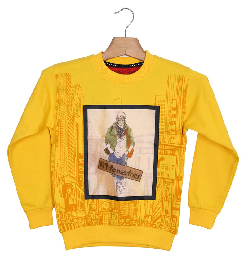 Stud Yellow Sweatshirt