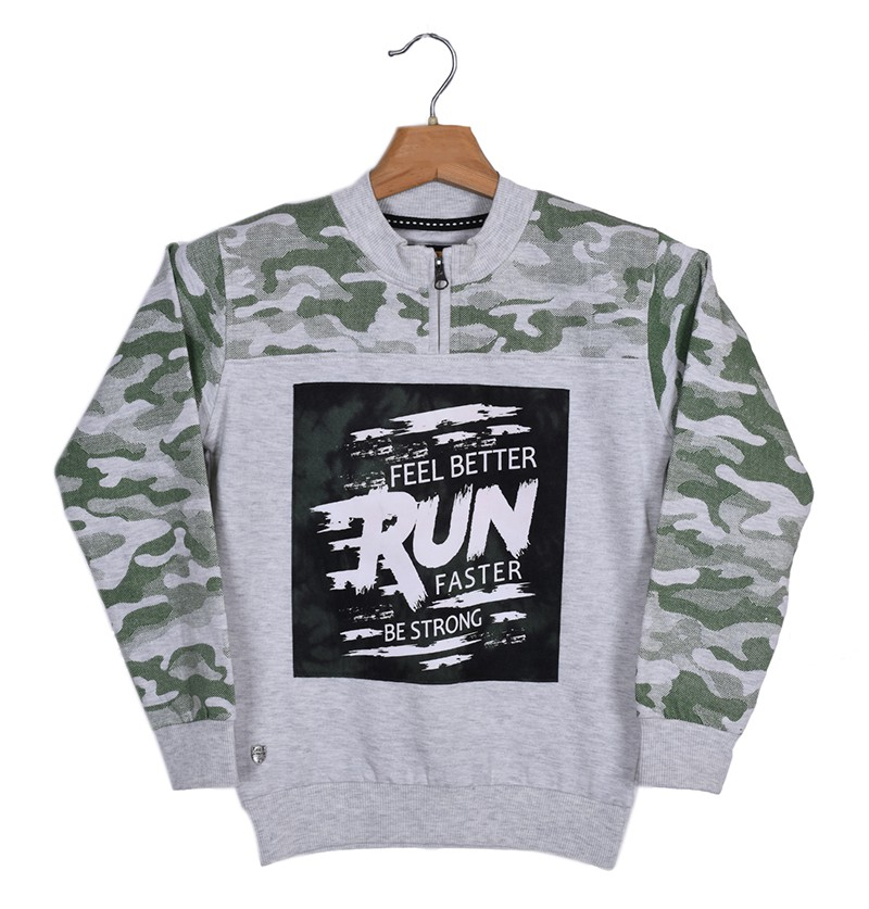 Run Faster Ecru Sweatshirt