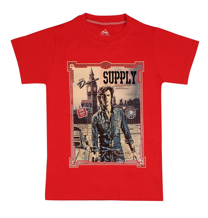 Vintage City Life Red T-Shirt