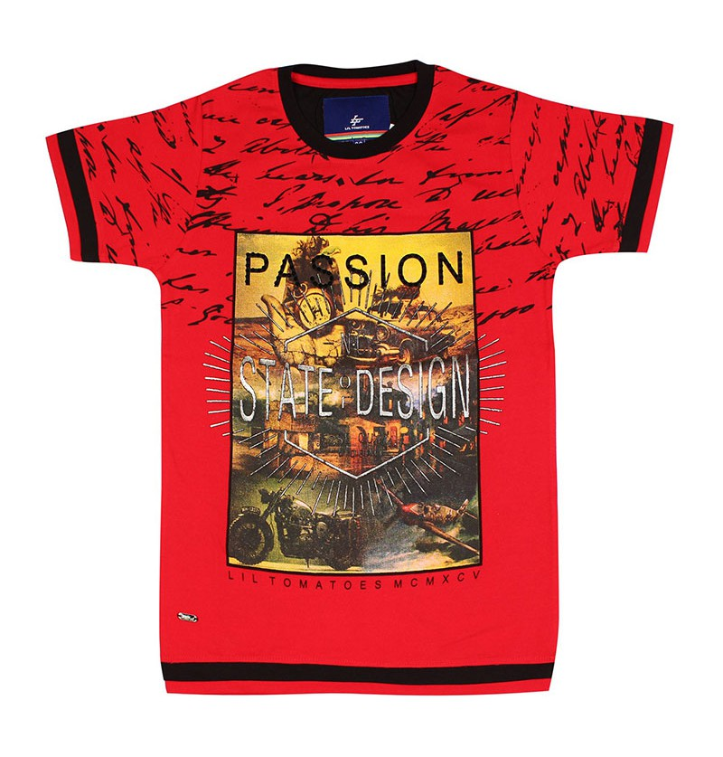 Passion Red Printed T-shirt