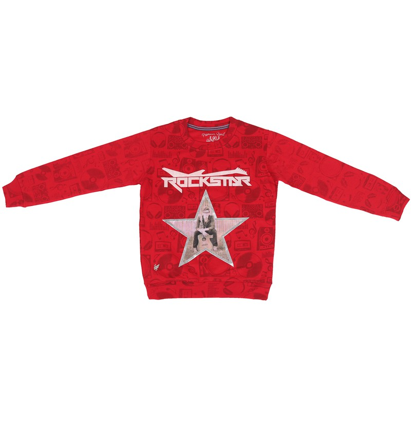 Rock star Red Sweatshirt
