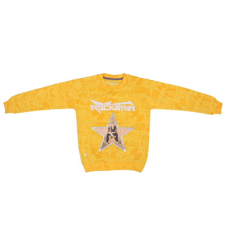 Rock star Yellow Sweatshirt