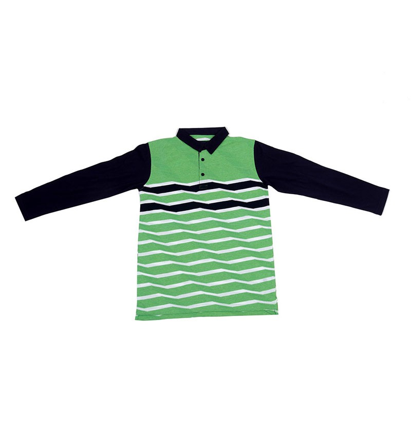 Fashion Waves Green T-Shirt